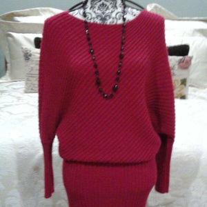 2/$50 BEAUTIFUL red sweater dress